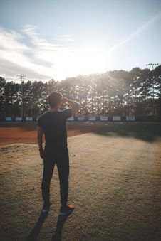 Free Man Standing On Field Looking On Trees Royalty Free Stock Photo - 129228795
