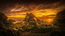 Free Rock Formation During Golden Hour Stock Photos - 129251573