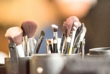 Free Close-Up Photography Of Makeup Brushes Royalty Free Stock Photography - 129251657