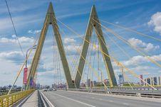 Free Bridge, Cable Stayed Bridge, Landmark, Sky Stock Photography - 129291322