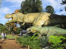 Free Dinosaur, Tyrannosaurus, Tree, Grass Stock Image - 129291491