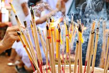 Free Close-up Photo Of Lighted Incense Sticks Stock Photo - 129414600