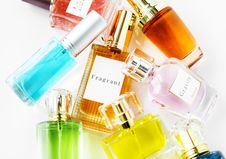 Free Assorted Perfume Bottles Royalty Free Stock Photography - 129414677