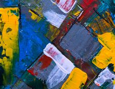 Free Close-up Photo Of Multicolored Abstract Painting Stock Photography - 129415162