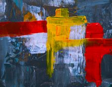 Free Yellow And Red Abstract Painting Stock Photo - 129415210