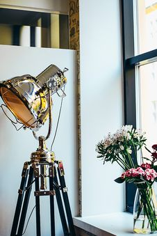Free Photo Of Floor Lamp Near Window Royalty Free Stock Images - 129415339