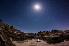 Free Photograph Of Camping Tent Under Starry Sky Royalty Free Stock Photos - 129415568