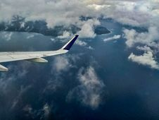 Free Aerial Photography Of Aircraft Wing Stock Photography - 129501232