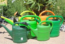 Free Watering Can, Flowerpot, Grass, Plastic Stock Photography - 129547822