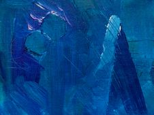 Free Photo Of Blue Abstract Painting Stock Photography - 129686812