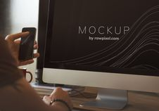 Free Photo Of Computer Monitor Royalty Free Stock Images - 129686819