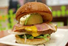 Free Breakfast Sandwich, Hamburger, Sandwich, Dish Stock Photography - 129752382