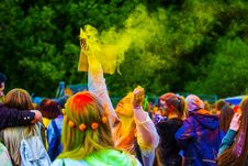 Free Yellow, Crowd, Festival, Plant Stock Photography - 129752632