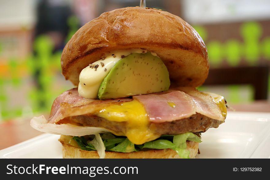 Breakfast Sandwich, Hamburger, Sandwich, Dish