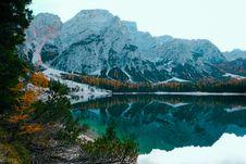 Free Lake And Snowy Summit Stock Photos - 129786703