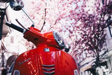 Free Selective Focus Photography Of Red Motor Scooter Royalty Free Stock Photography - 129874967