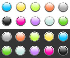 Free Glossy & Colorful Website Buttons Stock Photos - 12998213