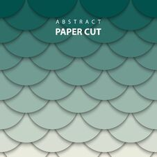 Free Vector Background With Beige And Green Colors Paper Cut Shapes. Royalty Free Stock Photo - 129936375