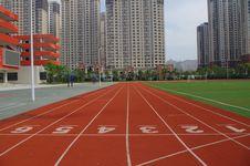 Free Track And Field Athletics, Lane, Sport Venue, Metropolitan Area Royalty Free Stock Image - 129936986