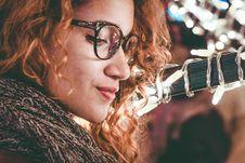 Free Close-Up Photo Of A Woman Wearing Eyeglasses Stock Image - 129940151