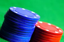 Free Blue And Red Chips Stock Photography - 132762