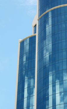 Free Blue Sky, Blue Skyscraper Royalty Free Stock Image - 132776