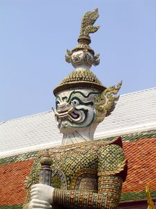 Free Guard Statue - Grand Palace Royalty Free Stock Photos - 133088