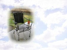 Free Patio Chair And Sky Postcard Royalty Free Stock Images - 134149