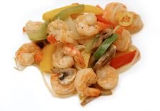 Free Shrimp Meal 3 Royalty Free Stock Photos - 135578