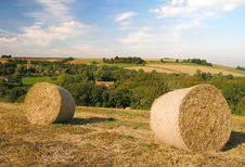 Free Hay Bails At Wellow Stock Photos - 136303