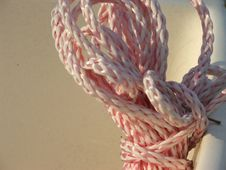 Free Coiled Nylon Rope Royalty Free Stock Images - 136359