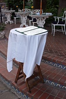 Free Menu Stand Stock Photography - 136382