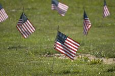Free Memorial Flag Close Up Stock Image - 138261