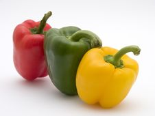 Free Yellow Green And Red Pepper Stock Photography - 139512