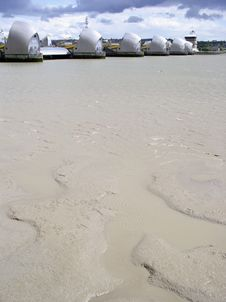 Free Mudflats And Thames Barrier Stock Photo - 139880