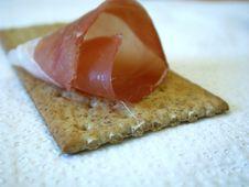Free Smoked Ham On Cracker Royalty Free Stock Photo - 139995