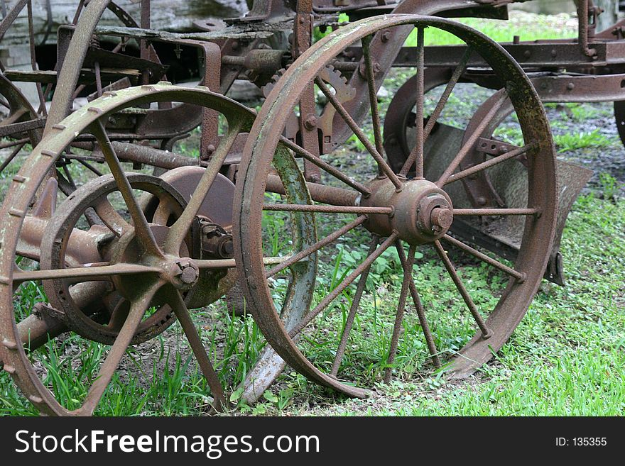 Old Rusty Plow Wheels