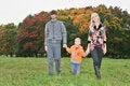 Free Autumn Family Walk Stock Photos - 1306943
