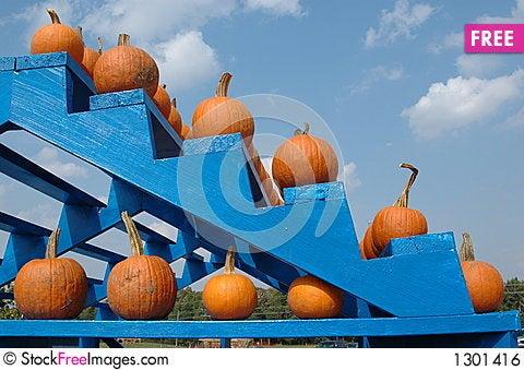 Pumpkin Stairs Stock Photo