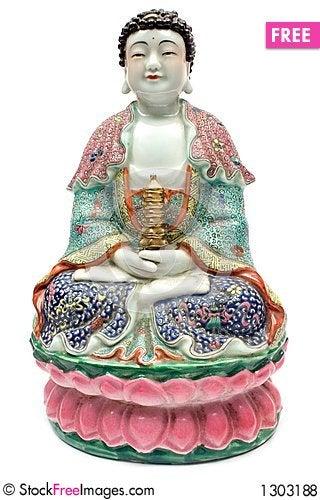 Colorful Buddha Stock Photo