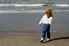 Free Girl And The Sea Royalty Free Stock Photography - 1300007