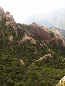 The Scenery Of Huangshan In China Stock Images