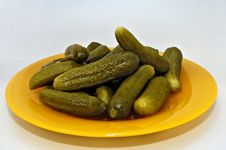Free Pickled Gherkins (young Cucumbers) Stock Image - 1300571