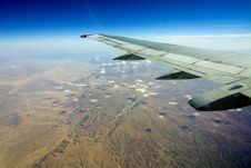Desert, Egiped, Sand, Plane Stock Images