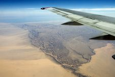 Desert, Egiped, Sand, Plane Royalty Free Stock Photo