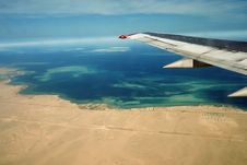 Desert, Egiped, Sand, Plane Royalty Free Stock Photos