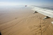 Desert, Egiped, Sand, Plane Stock Photography