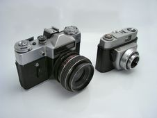 Old School Cameras Stock Image