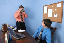 Free Coworker Taking Picture Royalty Free Stock Photography - 1301637