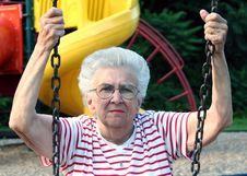 Free Swinging Grandmother 8 Royalty Free Stock Image - 1301776